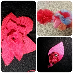 fabric flowers samples