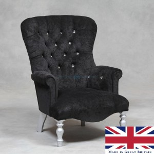 http://www.mcgowanrutherford.co.uk/made-in-england/grey-velvet-small-button-back-chair-with-diamond-detail-made-in-uk
