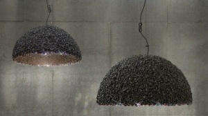 lamp-made-of-marble-and-Swarovski-hemispherical-lampshade-black